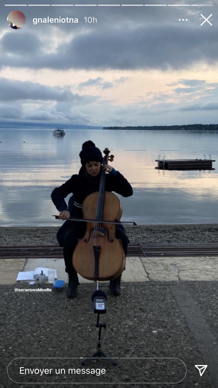Aube musicale avec Sara Oswald  (capture d'écran instagram @Antoine Läng)