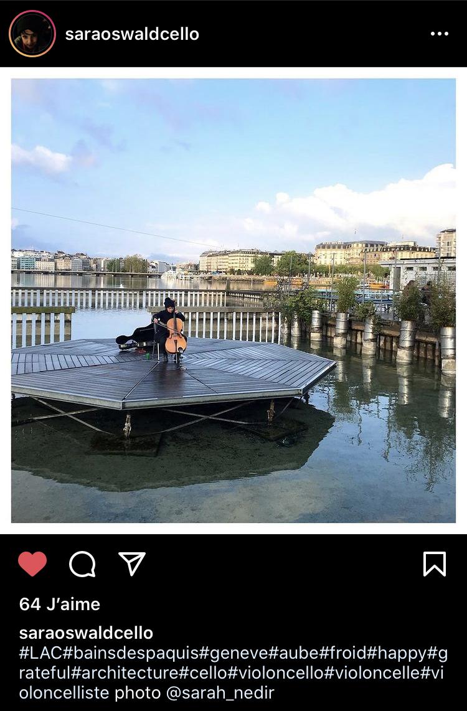 Aube musicale avec Sara Oswald  (capture d'écran instagram @ Valérie Hoffmeyer / pleine terre)