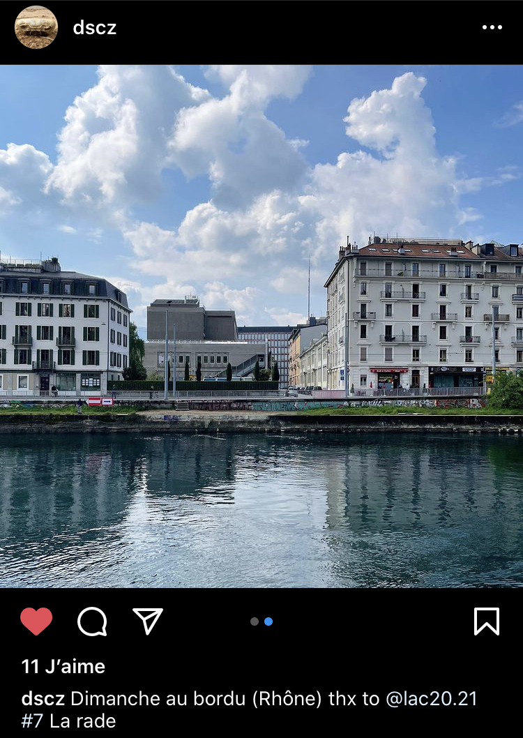 Capture d'écran Instagram @ Daniel Sciboz